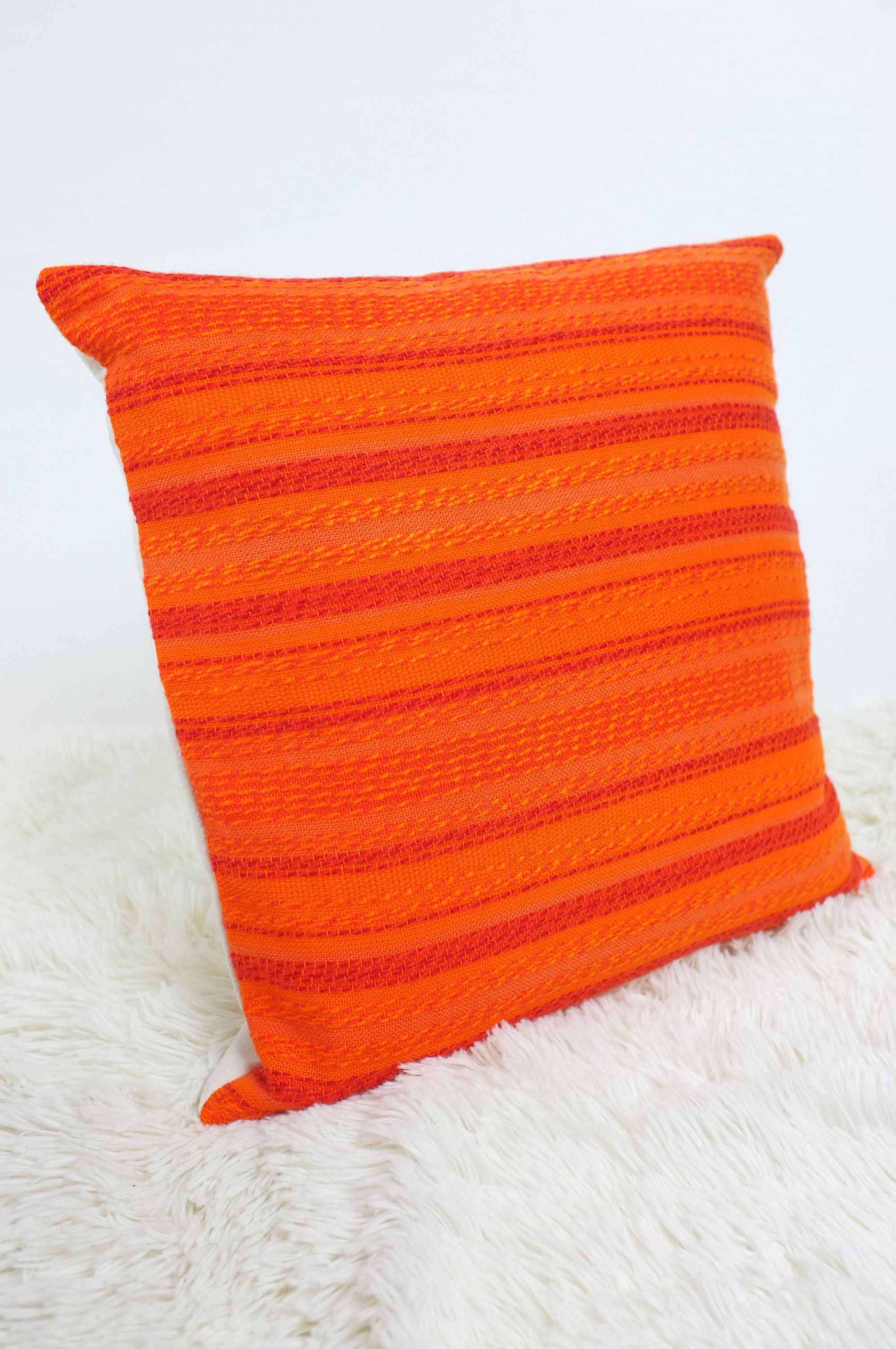 Retro Cushions Retro Cushion Cover Amazing Orange 60s 70s Fabric 16x16
