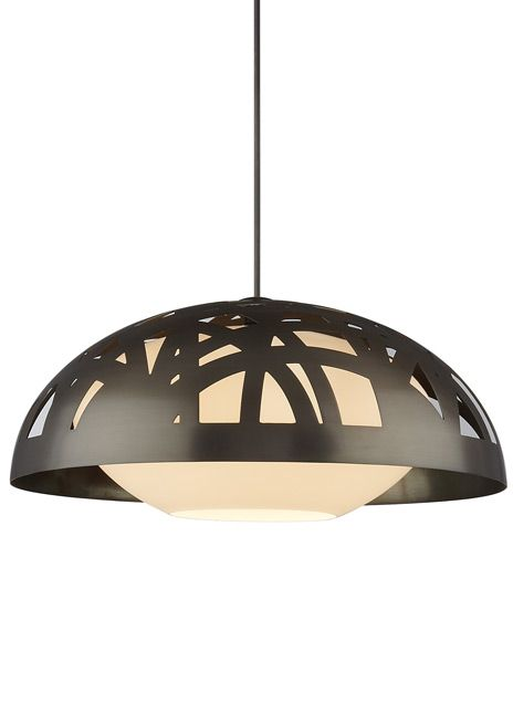 A graceful metal dome with intricate, asymmetric cutouts which is AB FAB!  -  Tech Lighting