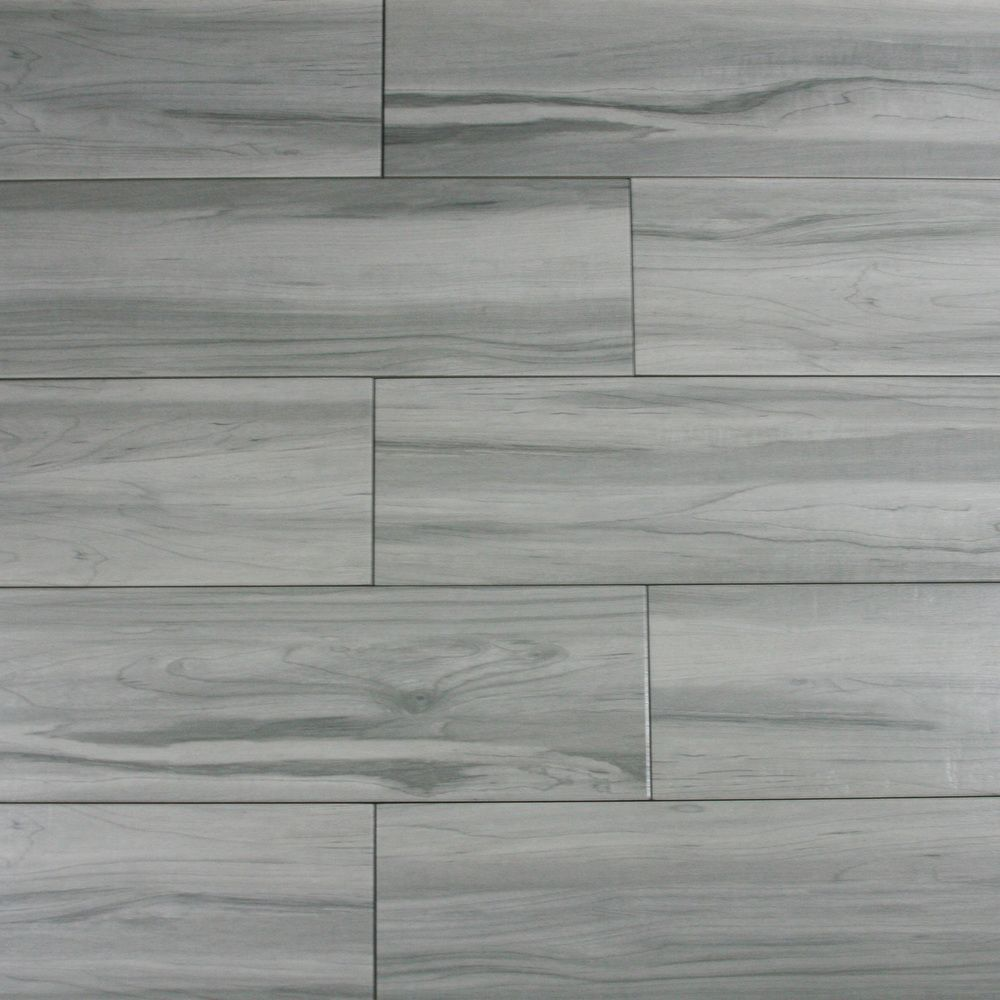 Weathered Grey Wood Look Porcelain Tile