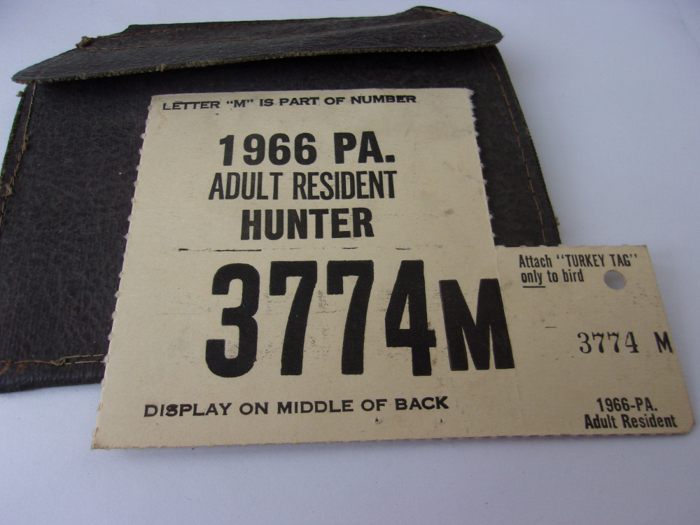 Vintage 1966 Old Deer Hunting License from PA Cumberland