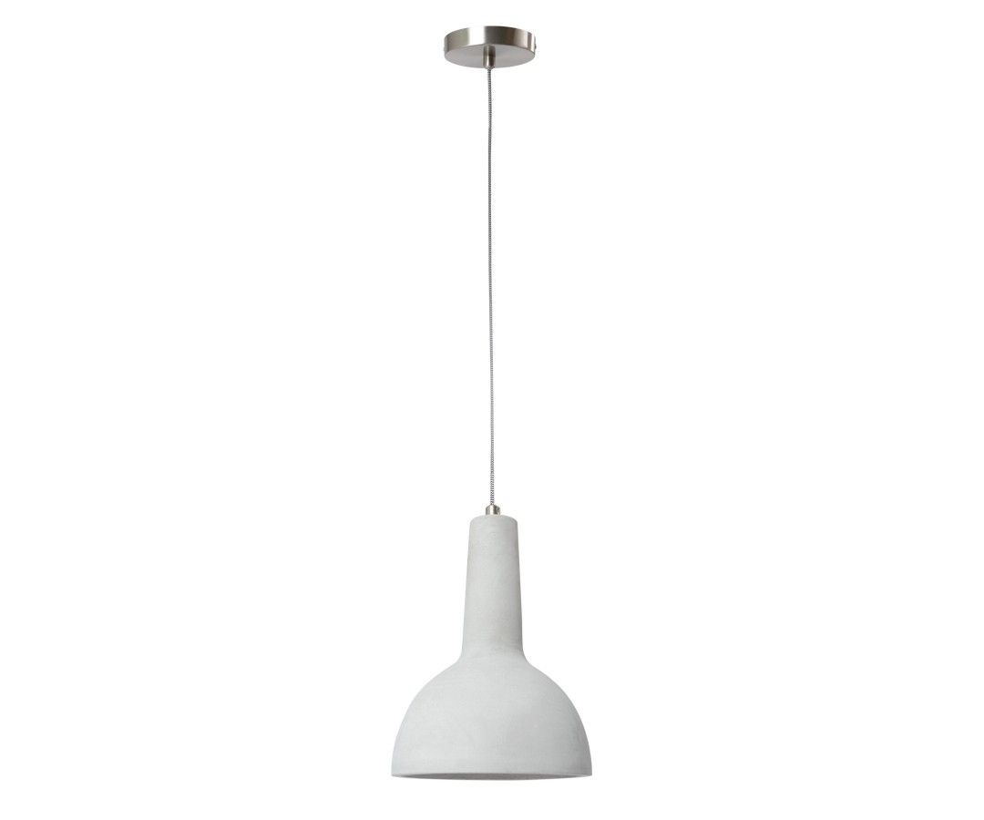 Harvey 1 Light Pendant In Concrete