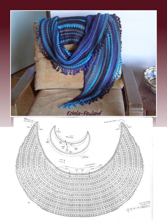 The Crescent Moon Crochet Shawl / http://patronesdeapuntodered ...