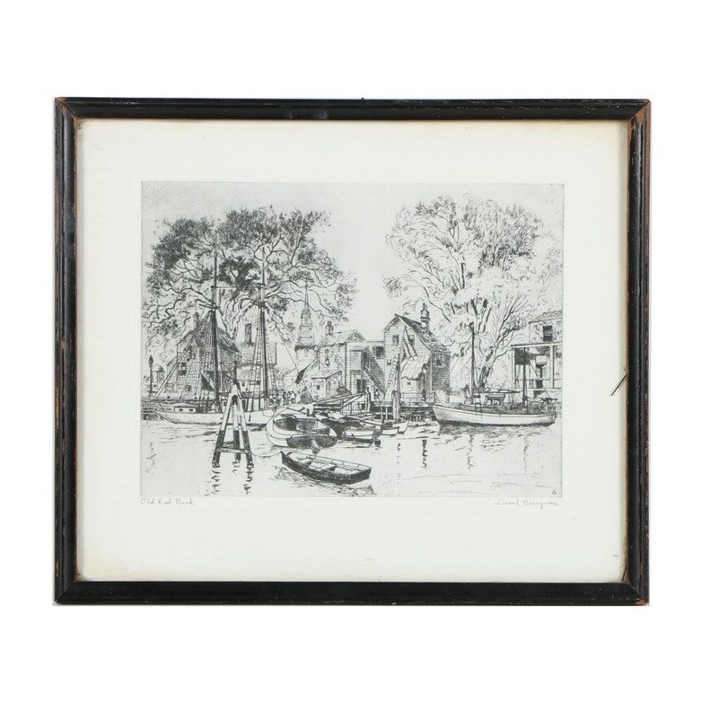Offset lithograph after lionel barrymore old red bank