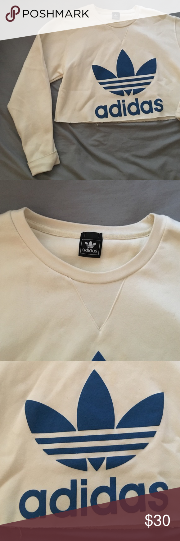 Vintage Cream Colored Adidas Sweatshirt Bought At Vintage Shop And Never Wore Two Minimal Tiny Stains On Sleeve Sweatshirts Adidas Sweatshirt Sweatshirt Buy [ 1740 x 580 Pixel ]