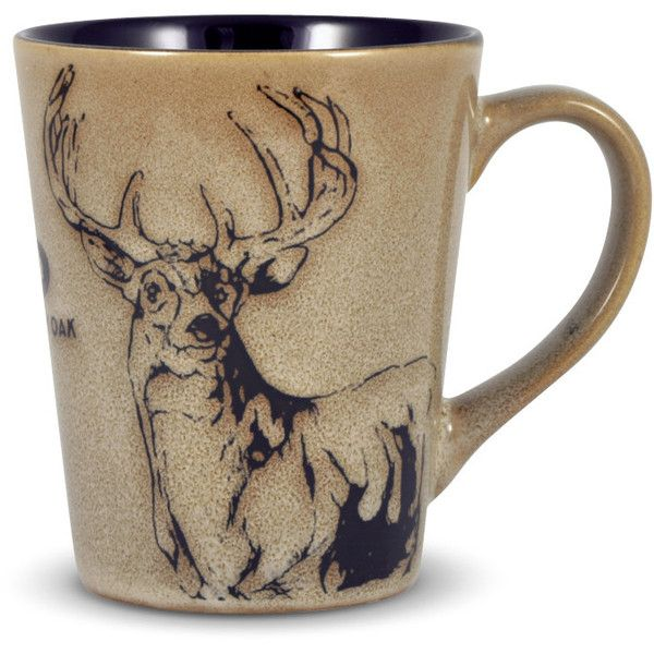 Mossy Oak Animal Print Deer Mug 31 PLN ❤ liked on Polyvore