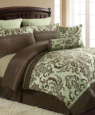 Take A Look At This Sage Brown Danielle Comforter Set By Victoria Classics On Zulily Today Comforter Sets Bed Comforter Sets Bedroom Sets