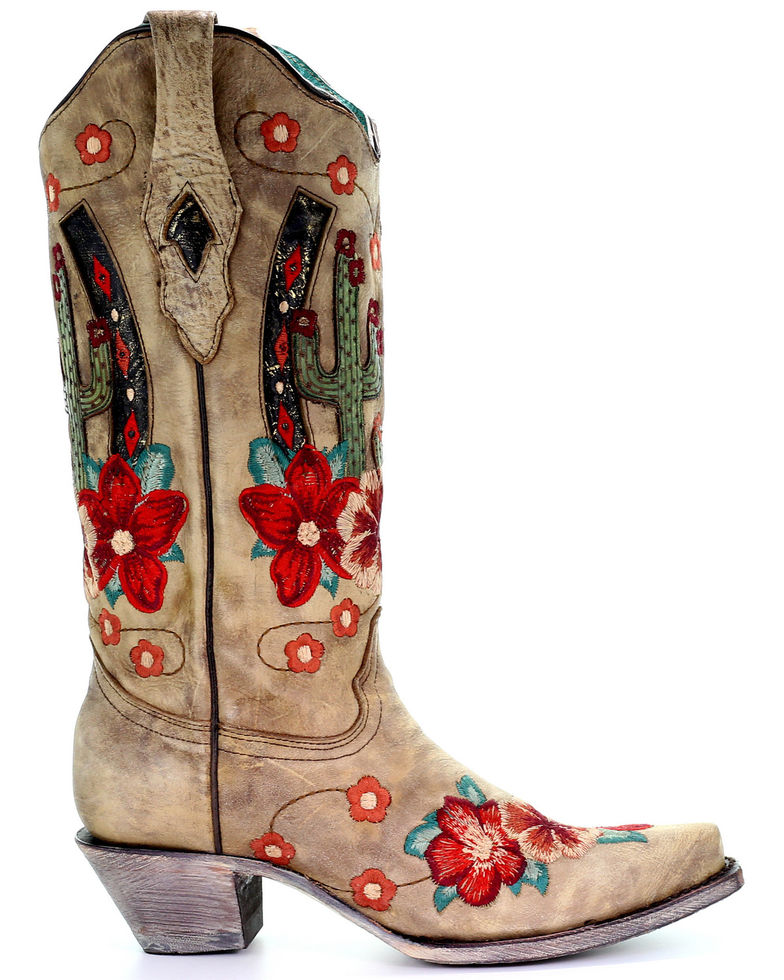 Corral Women's Cactus Inlay Western Boots