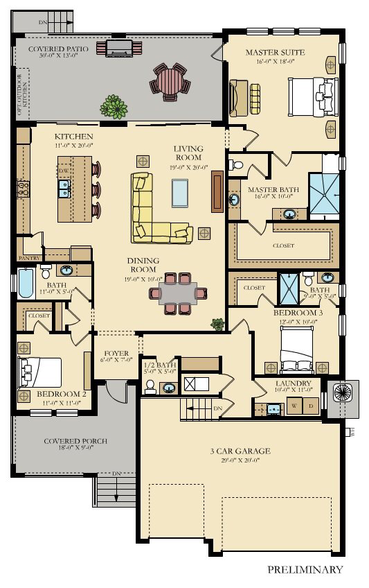 Captiva New Home Plan In Southshore Yacht Club Melrose Cove By Lennar New House Plans House Map House Flooring