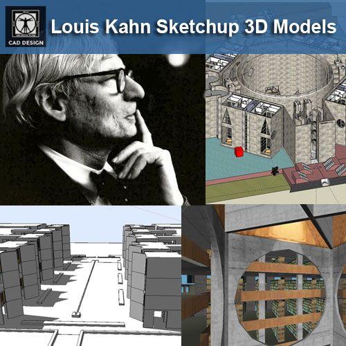7 Louis Kahn Sketchup 3d Modelsdownload Sketchup Modelscad