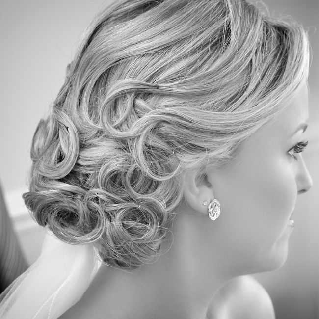 Christian Bridal Hairstyle: Curly Bridal Updo // Photo By: Meyer Photography // Hair