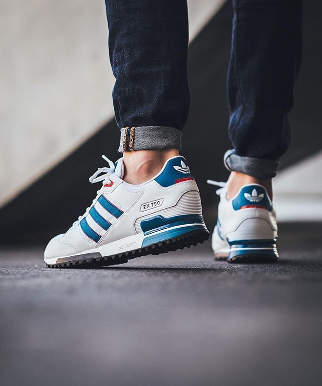 best sneakers bec49 abb84 Adidas Originals ZX 750  White Unity Blue Ray Red