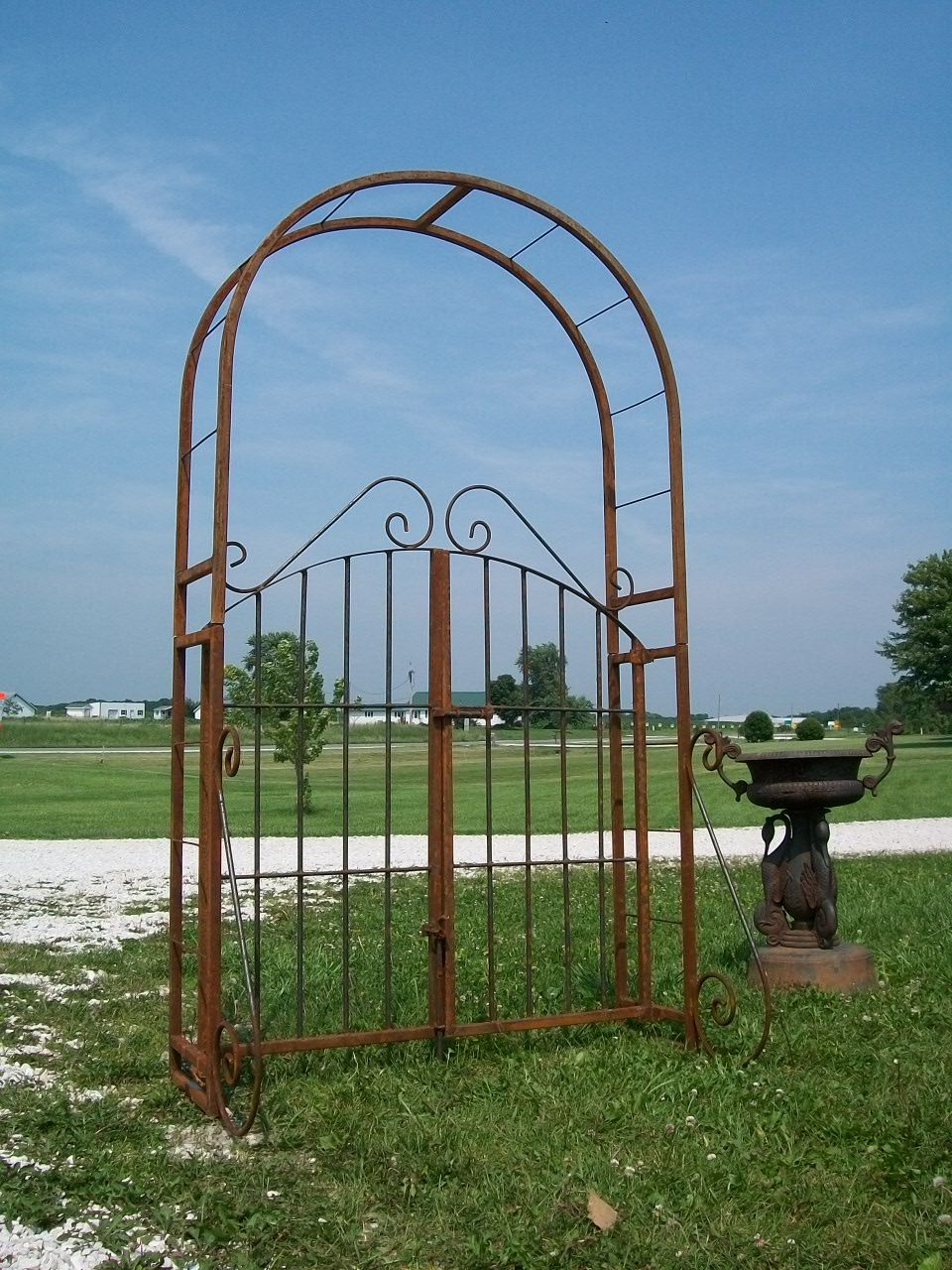 wrought iron trellis gate gardening pinterest