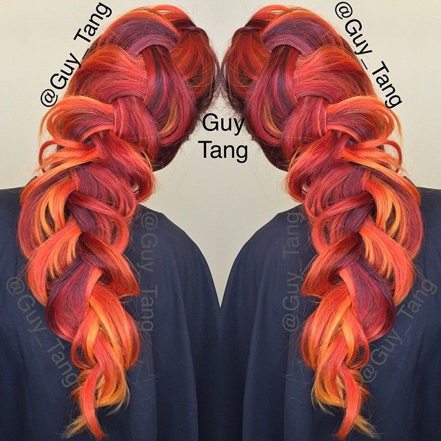 Gorgeous Phoenix Rising color inspiration. LOVE the depth in color here. Designed by @Guy Tang