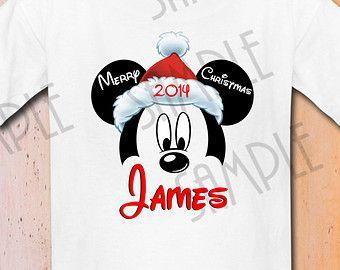 T-shirt Disney Mickey Mouse Merry Christmas Printable iron on ...
