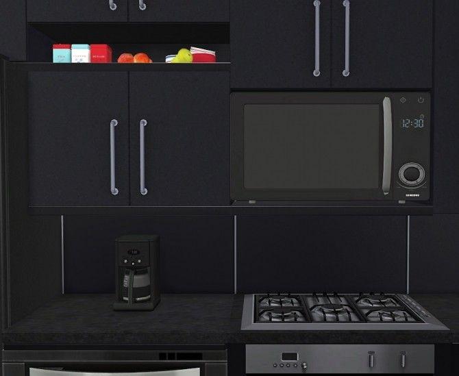 Wall Mounted Microwave At Maximss Sims 4 Kitchen Sims 4