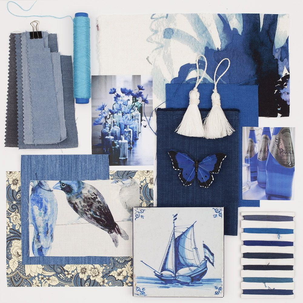 Make believe you are in paradise with these exotic blue prints.