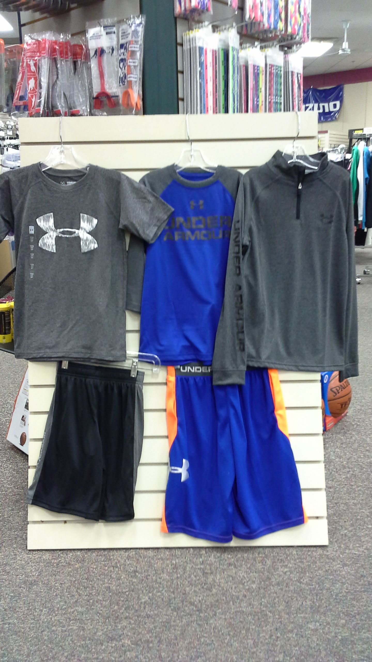 9fea68f20 Youth boys' Under Armour clothing, boys' blue Under Amour shorts ...