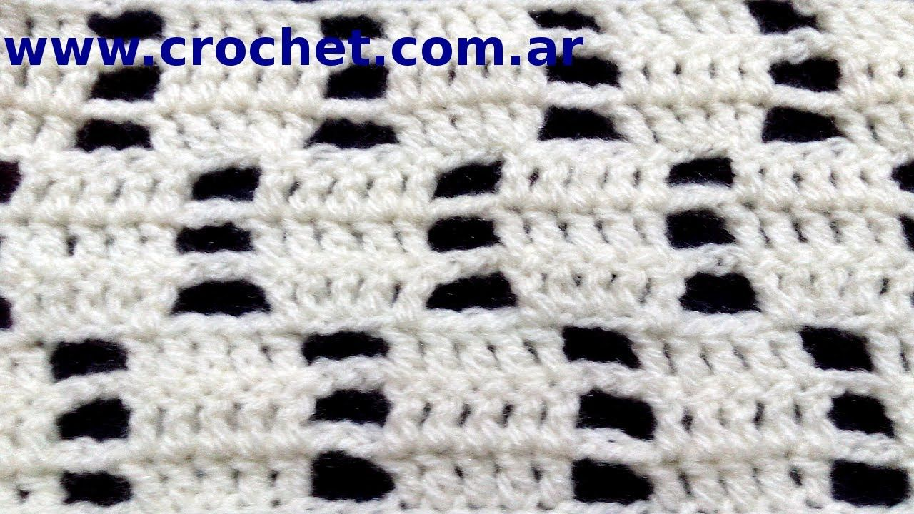 Punto fantasía Nº 71 en tejido crochet tutorial paso a paso ...