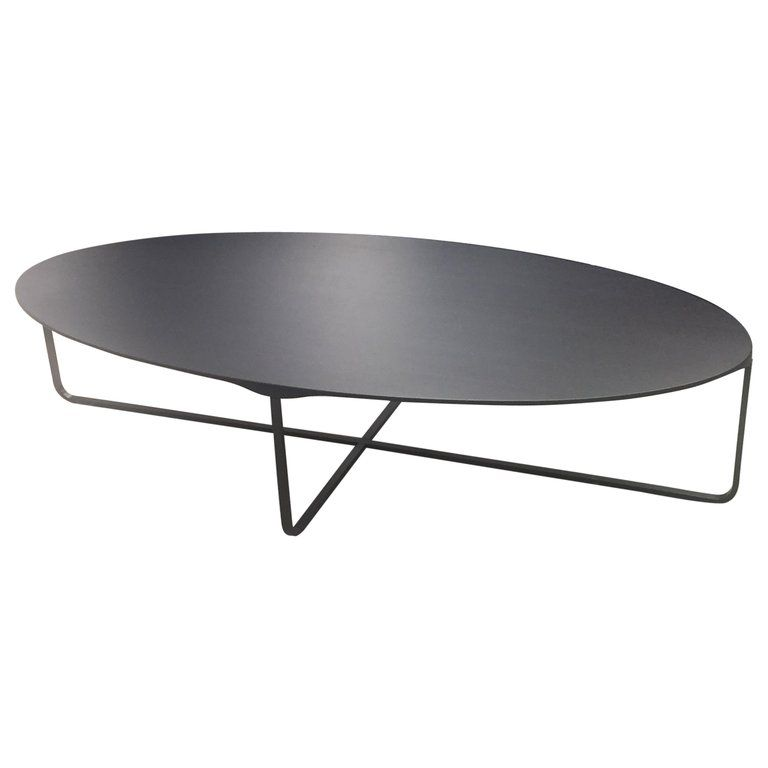 Montis Black Oval Flint Coffee Table Coffee Table Whimsical
