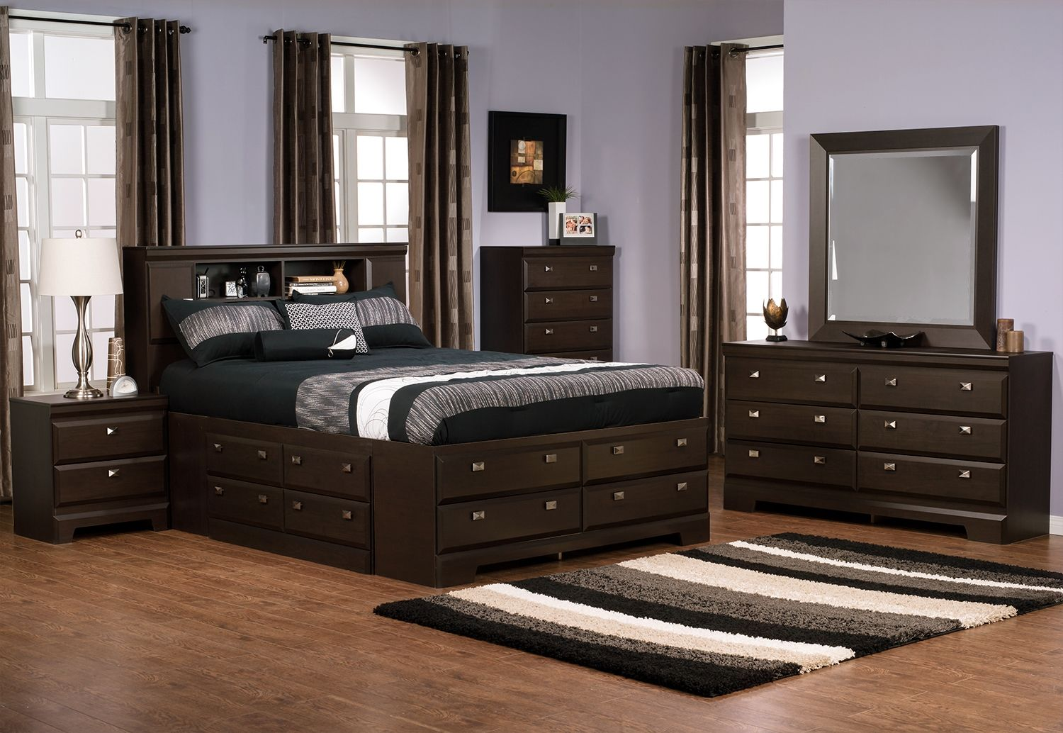 Bedroom Furniture Yorkdale 8Piece Queen Bookcase
