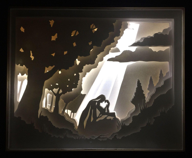pin  anchal shah  shadow box paper cutting paper