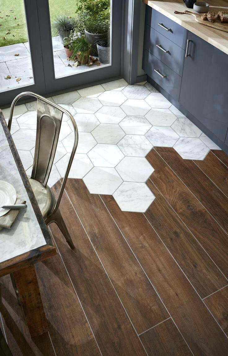 Tilesrecycled Hexagon Glass Tile Ancient Beige Brown Hexagon Floor