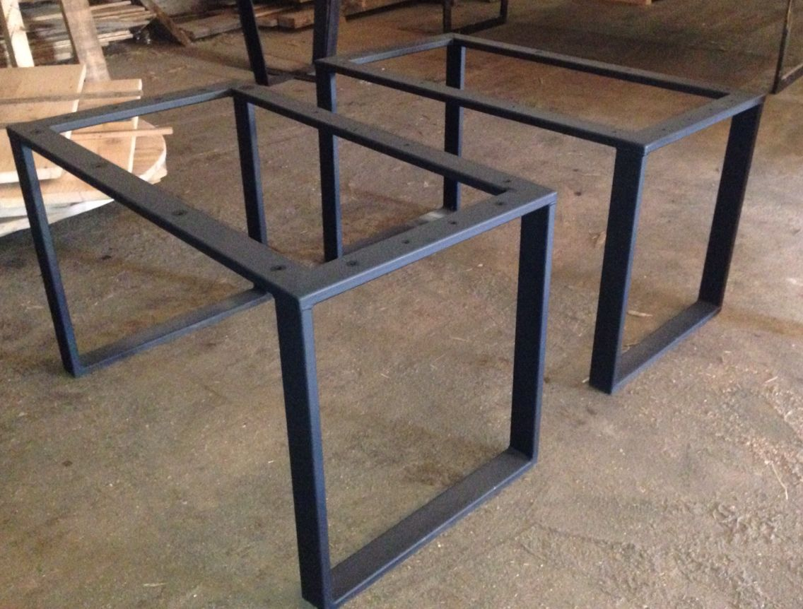 3x1 Hot Rolled Steel Tubing U Shaped Leg Bases Custommetaltablebases Ideias Para Mobilia Ideia Moveis Mesas De Jantar Industriais