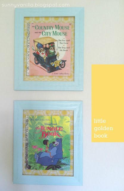 Sunny Vanilla: How to frame a book - A Little Golden Book May do ...