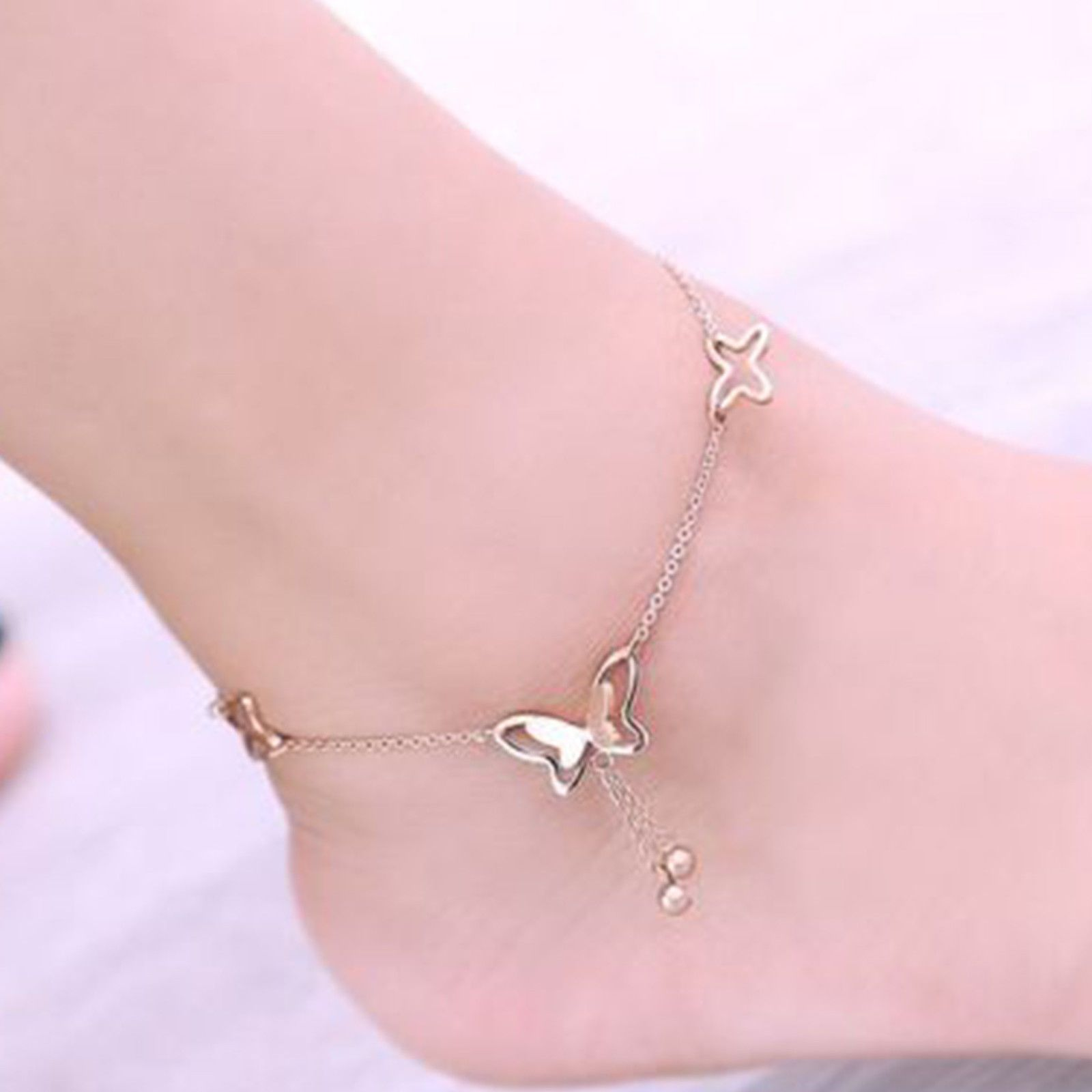 watches shipping anklet product silver today overstock and free hills bracelets jewelry womens bracelet sterling gold ankle black