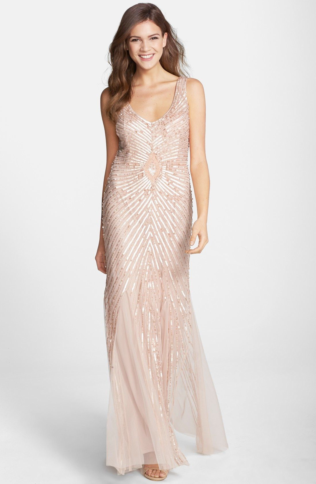 Aidan Mattox Sequin Mesh Column Gown available at #Nordstrom ...