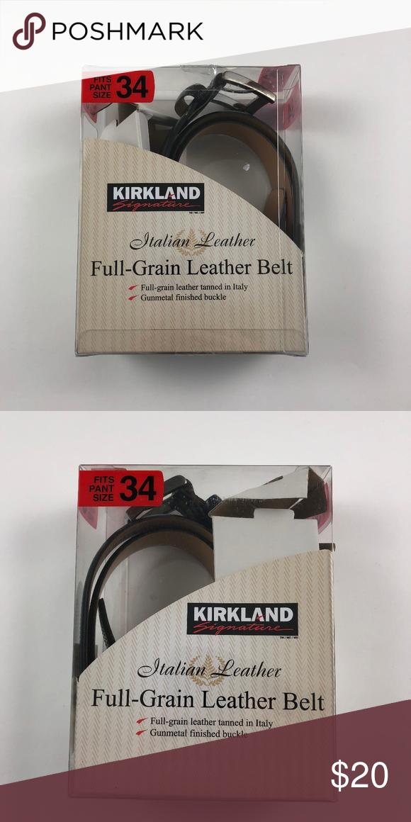 d8568cd595b Men's Size Waist 34 Kirkland Italian Leather Belt Men's Size 34 ...