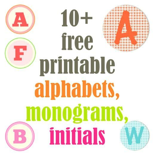 free letter templates for banners round up of alphabet letters monograms free alphabet printables free