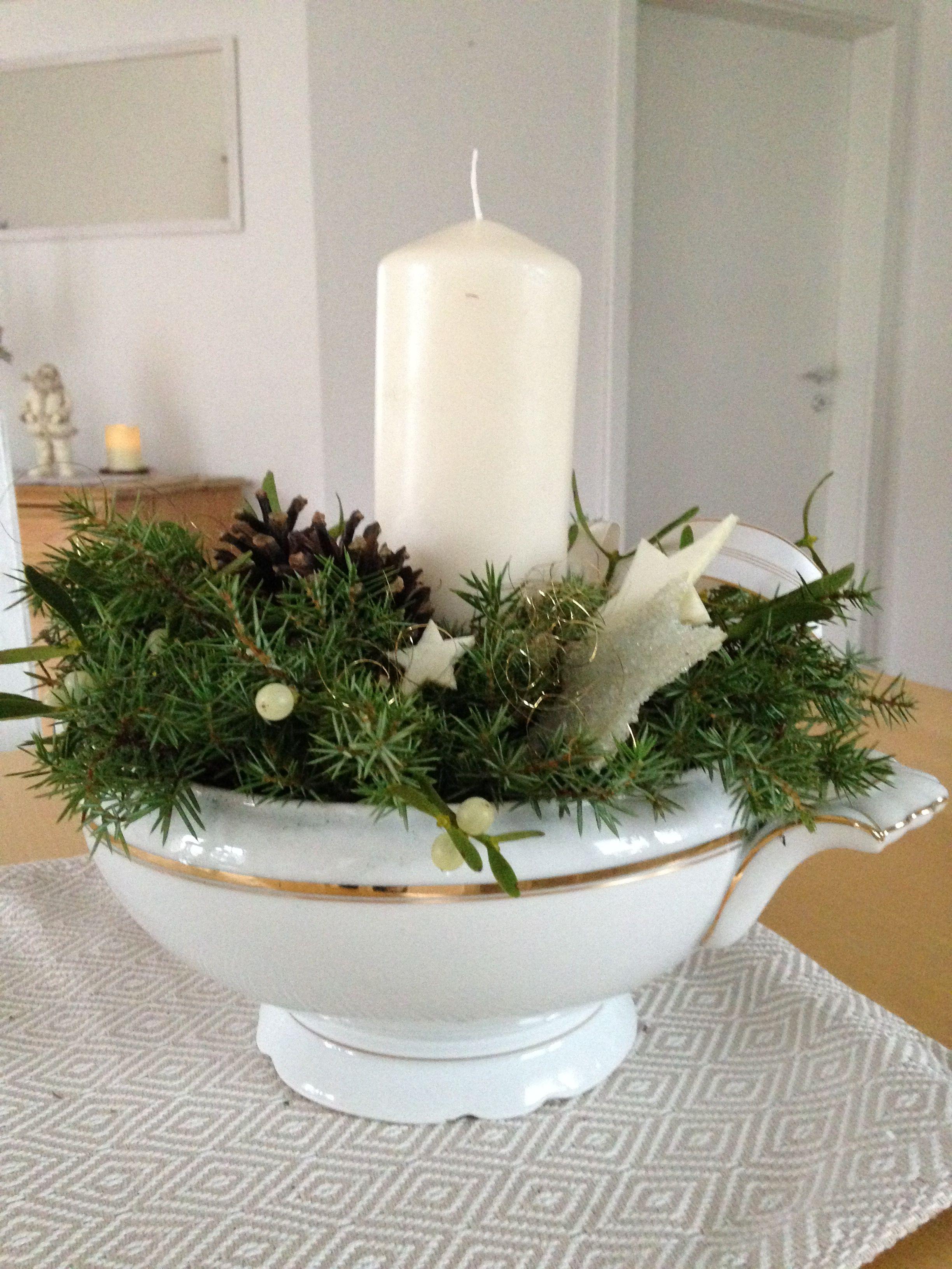 Advent In Der Suppenschussel Weihnachten Dekoration Deko
