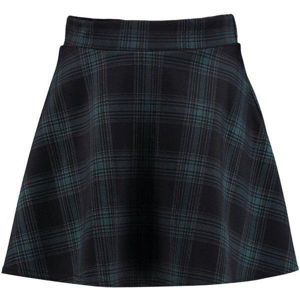 Boohoo Agnes Tartan Check Skater Mini Skirt (1.140 RUB) ❤ liked on Polyvore featuring skirts, mini skirts, plaid skirts, elastic waist mini skirt, short mini skirts, tartan mini skirt and short plaid skirt