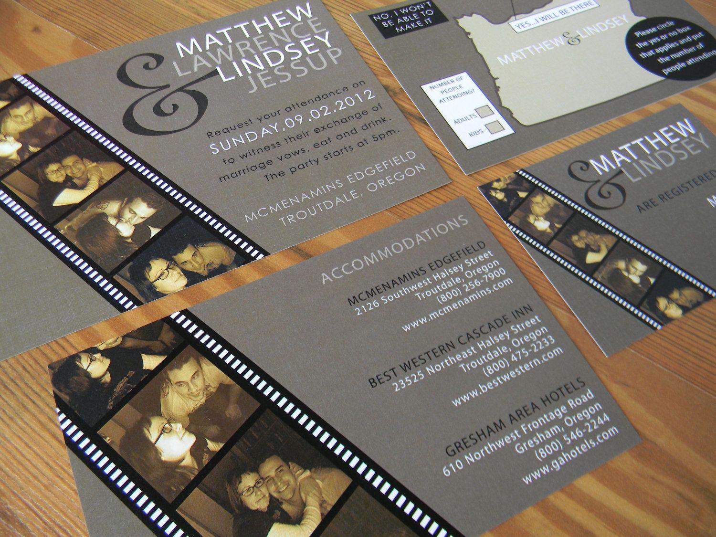 Perfect Film Wedding Invitation Composition - Invitations Design ...