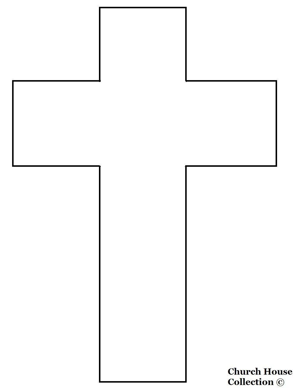 Jesus Died On A Cross Cutout Picture Cross Coloring Page