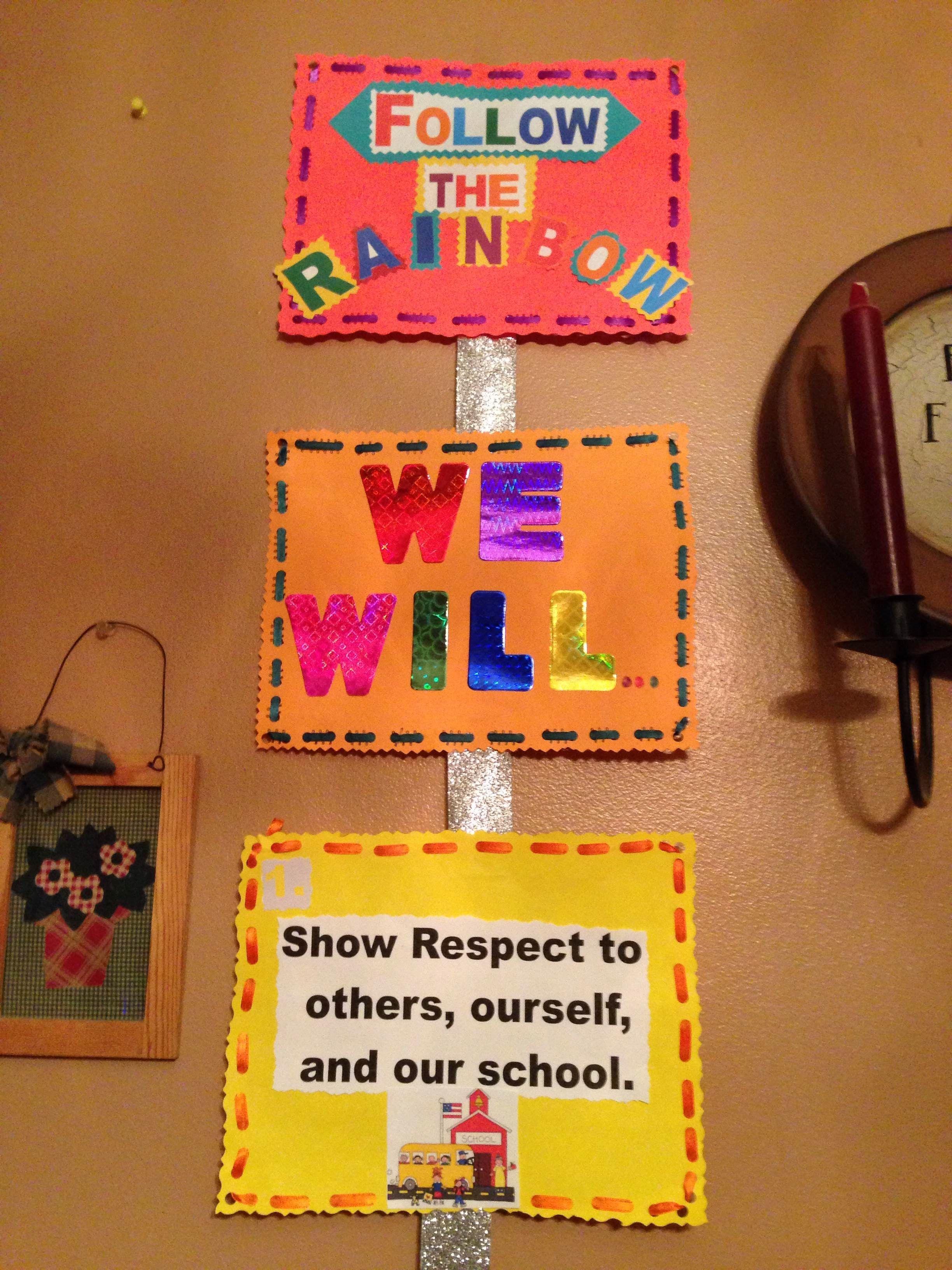 Follow The Rainbow 3rd Grade Classroom Rules Munity