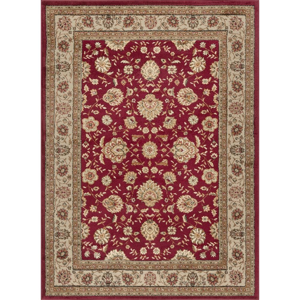 Tayse Rugs Elegance Red 8 Ft X 10 Ft Traditional Area Rug Elg5140 8x10 With Images Traditional Area Rugs Area Rugs Red Area Rug
