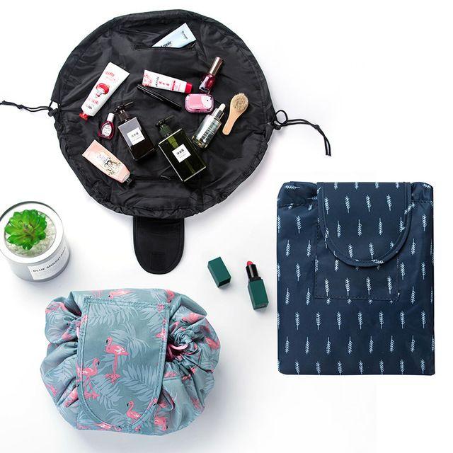 68f4fb92c33b Animal Flamingo Cosmetic Bag Professional Drawstring Makeup Case Women  Travel Make Up Organizer Storage Pouch Toiletry