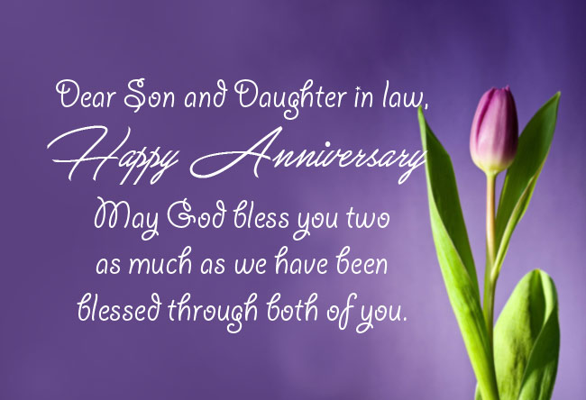 Pin on Anniversary Wishes for Son and Daughter in Law