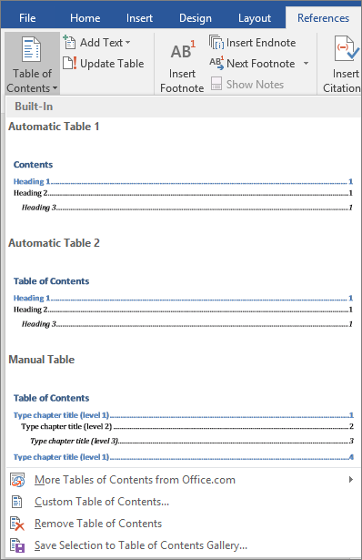 Create A Table Of Contents In Word Office Word Table Of Contents Words