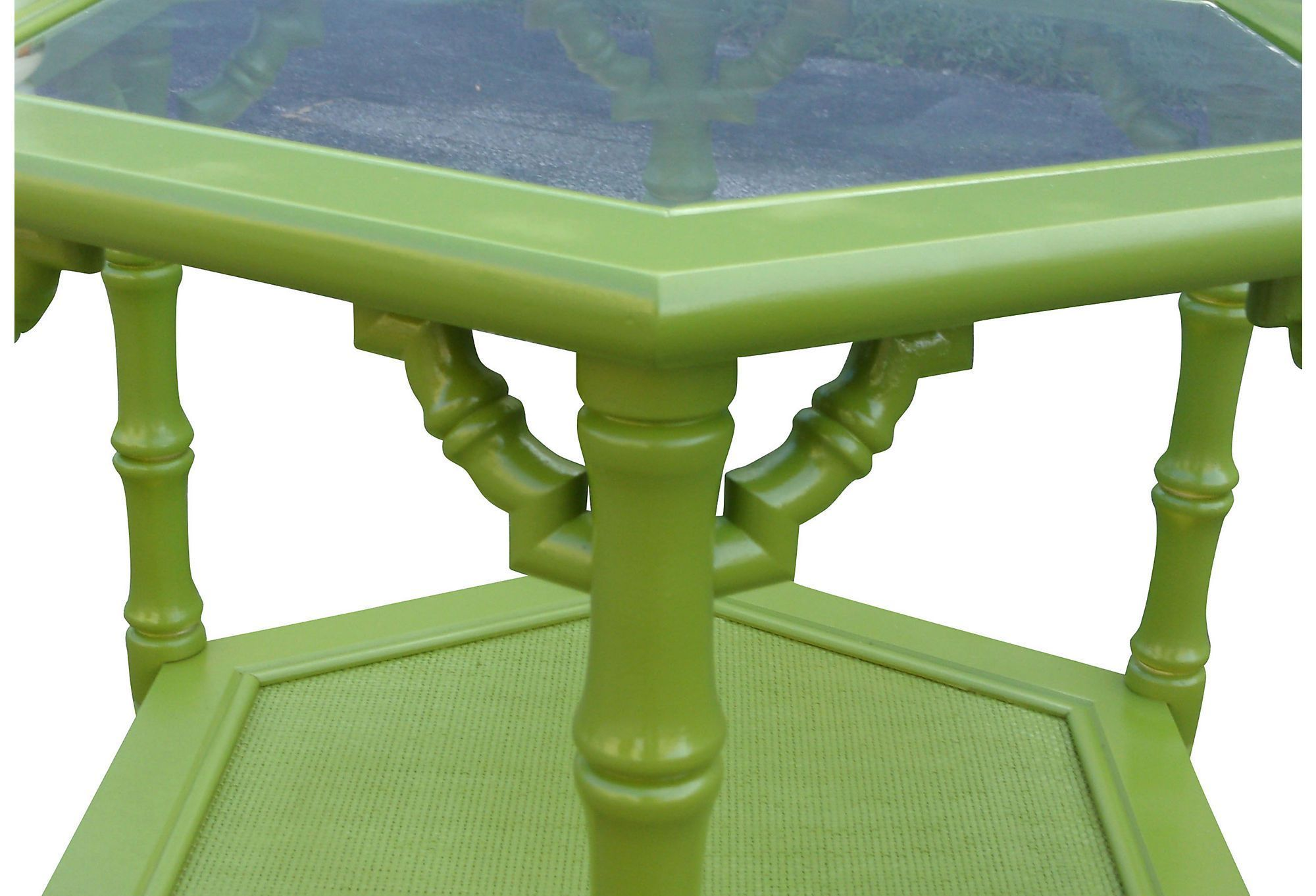 Искусственный бамбуковыми восьмиугольная столиков, пара   Любовь Посмотрите   Один Kings Lane