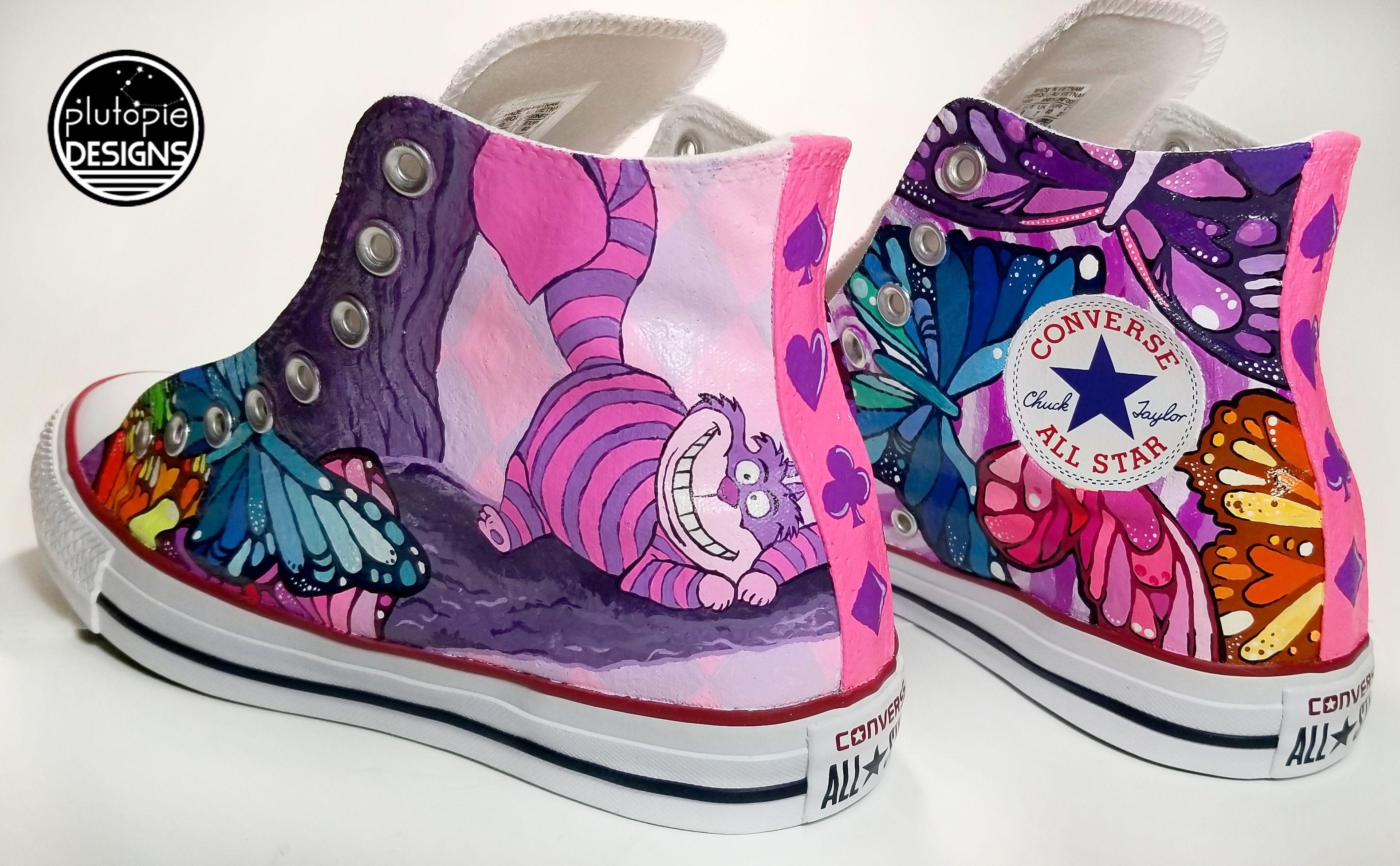Alice In Wonderland Custom Painted Shoes!! | Disney schoenen ...