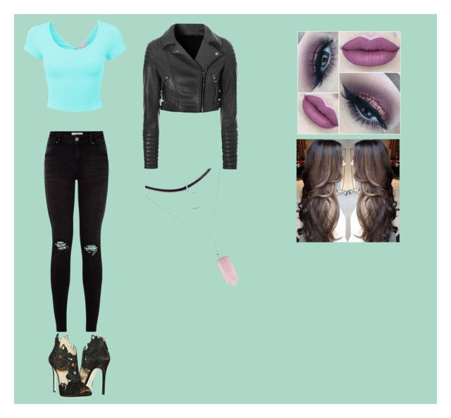 """""""Just a random outfit"""" by dark-030 ❤ liked on Polyvore featuring LE3NO, La Perla and Glamorous"""