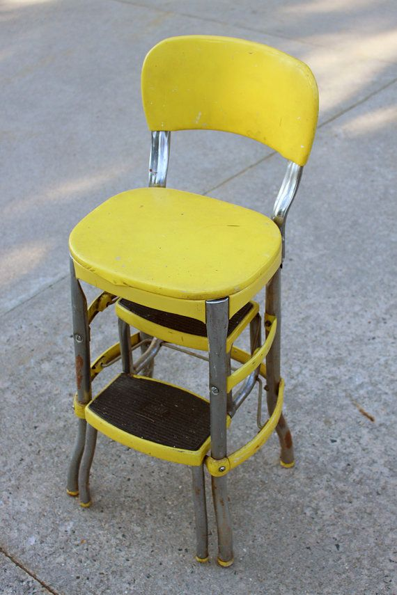 Peachy Yellow Metal Cosco Chair Yellow Step Stool By Squirreltailoven Fun Painted Chair Ideas Images Squirreltailovenorg