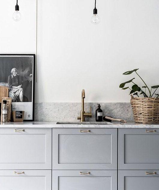 gabinetes grises con encimeras de mrmol sfgirlbybay
