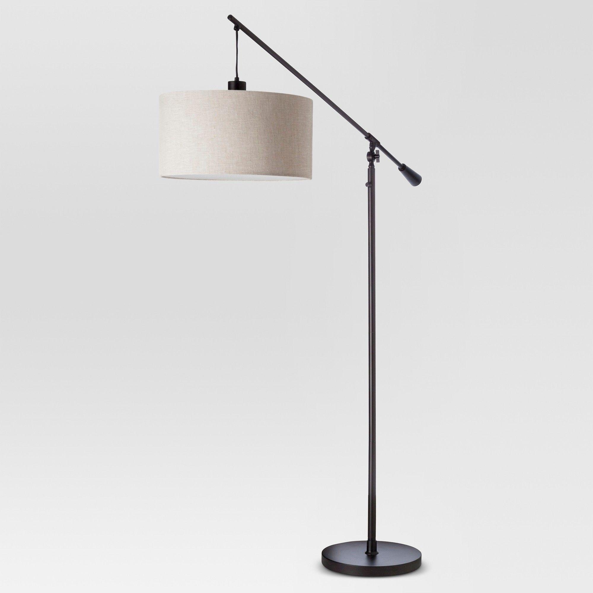 Cantilever Drop Pendant Floor Lamp Antique Bronze Threshold Black Floor Lamp Floor Lamp Floor Lamps Living Room