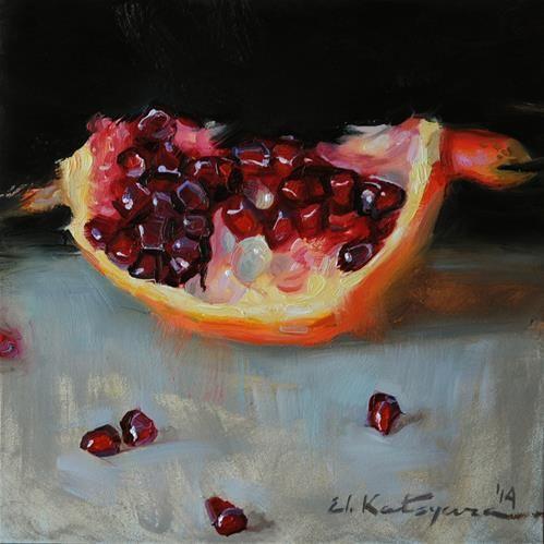 "Daily Paintworks - ""Quartered"" - Original Fine Art for Sale - © Elena Katsyura"