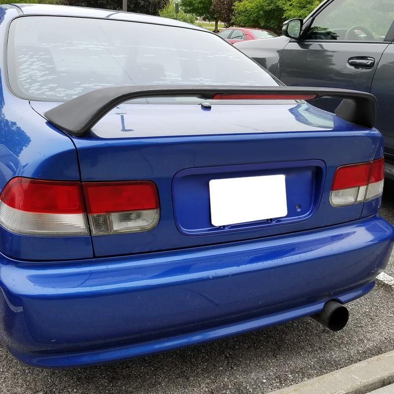 Spec D Spoiler Honda Civic Ek Coupe 96 00 Type R Style Wing Honda Civic Civic Honda
