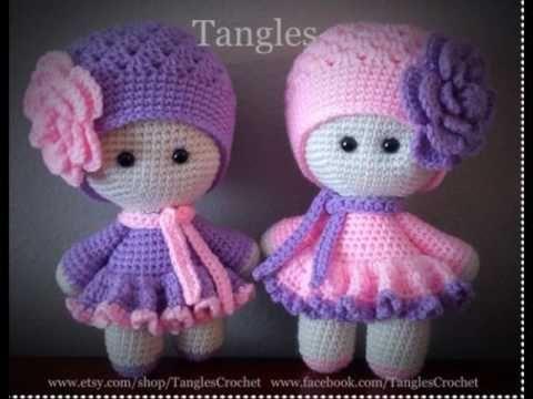 Muñecas Tejidas A Crochet Amigurumi Youtube Babykleider